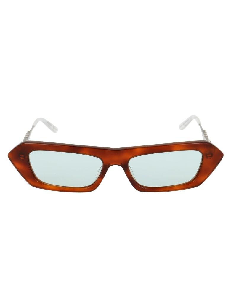 Gucci Gg0642s Sunglasses - 003 HAVANA SILVER GREEN
