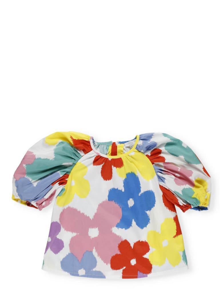 Stella McCartney Multicolor Printed T-shirt - MULTICOL FLOWERS WHITE