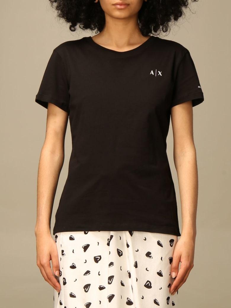 Armani Collezioni Armani Exchange T-shirt Armani Exchange T-shirt With Logo - Black
