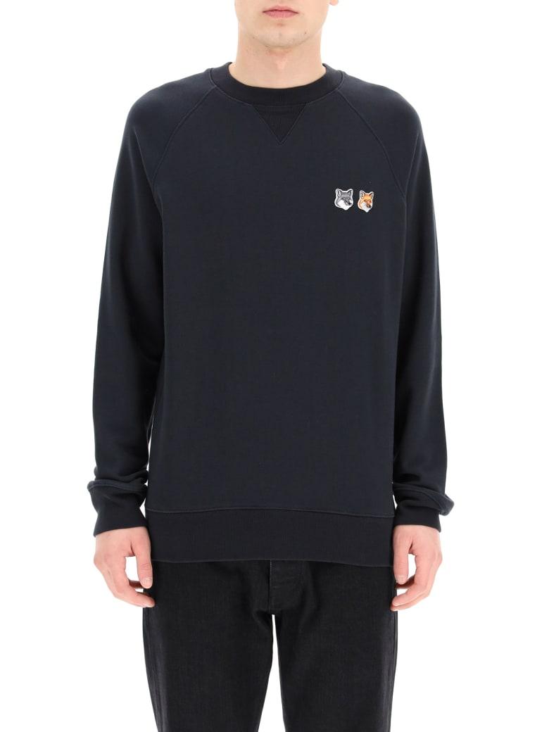 Maison Kitsuné Sweatshirt Neon Logo - Grigio