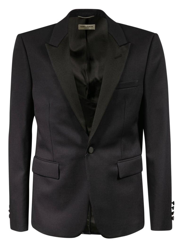 Saint Laurent Single-breasted Blazer - Black
