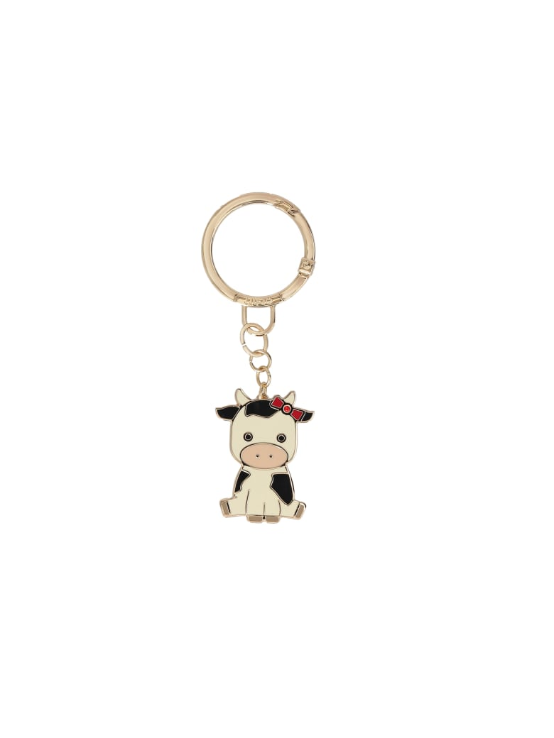 Liu-Jo Cow Key Ring - White