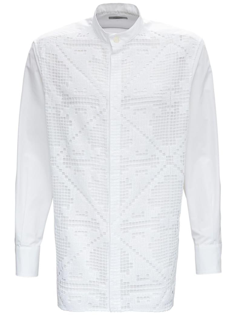 Valentino Oversized Shirt In Cotton Poplin - White