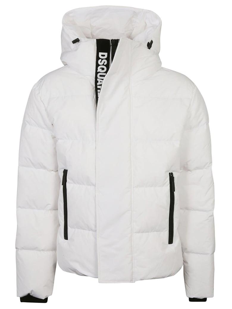 Dsquared2 Camo Padded Jacket - White