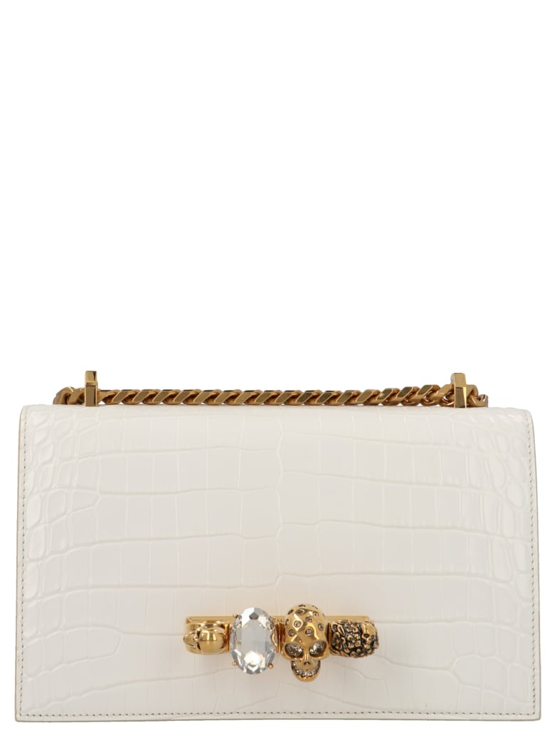 Alexander McQueen 'jeweled Satchel' Bag - White