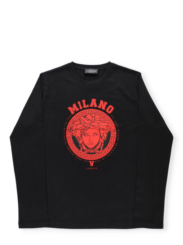 Versace Logo T-shirt - NERO+ROSSO