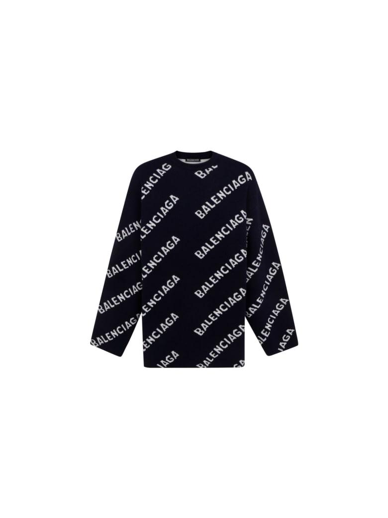 Balenciaga Sweater - Blu/bianco