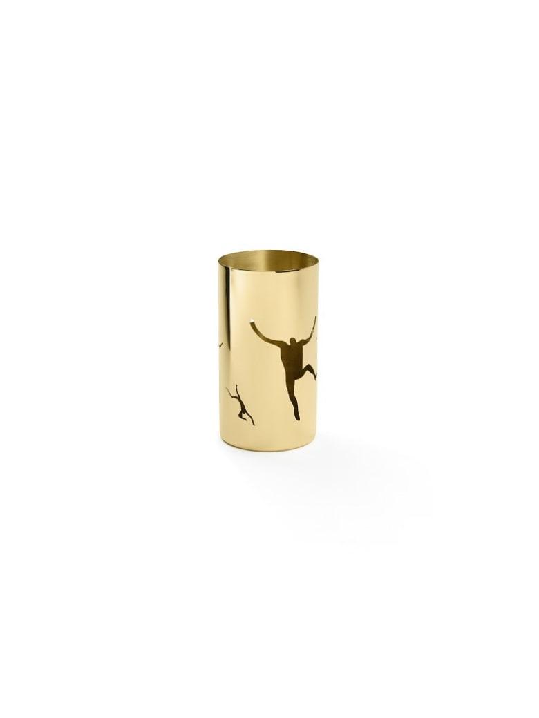 Ghidini 1961 Cylinder Bowl Polished Brass - Polished brass