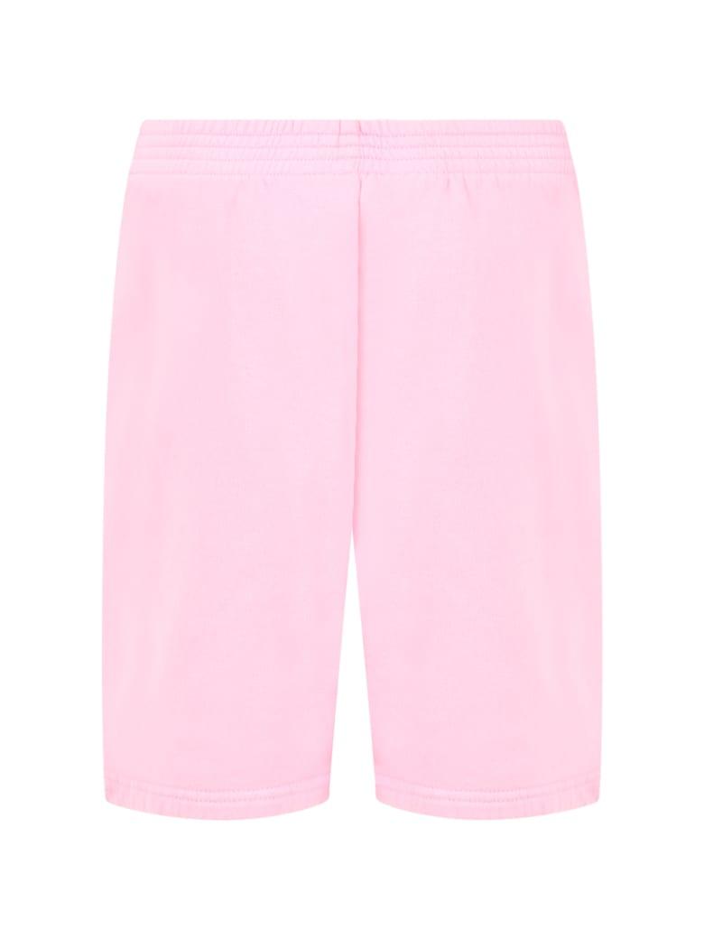 Balenciaga Pink Short For Girl With Logo - Pink