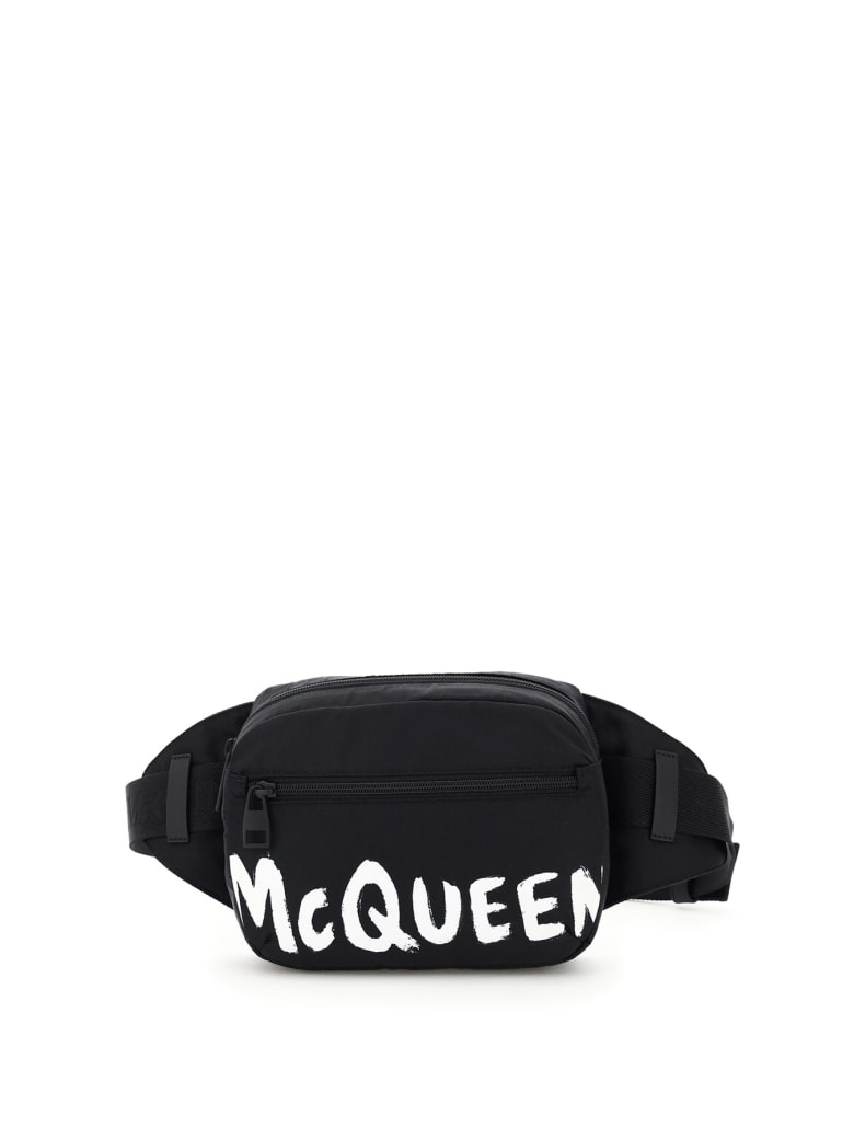 Alexander McQueen Urban Graffiti Logo Beltpack - Black/white