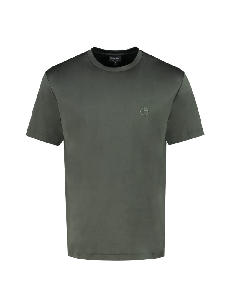 Giorgio Armani Cotton Crew-neck T-shirt - green