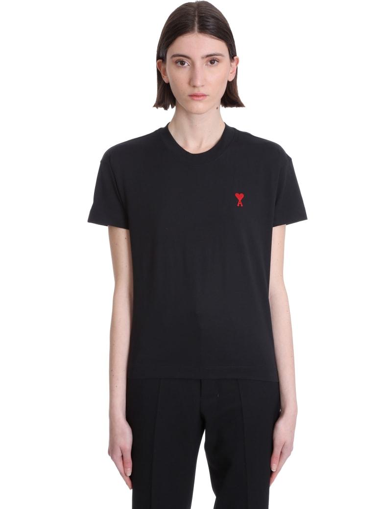 Ami Alexandre Mattiussi T-shirt In Black Cotton - black