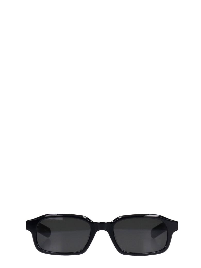 Flatlist Hanky Sunglasses In Black Pvc - black