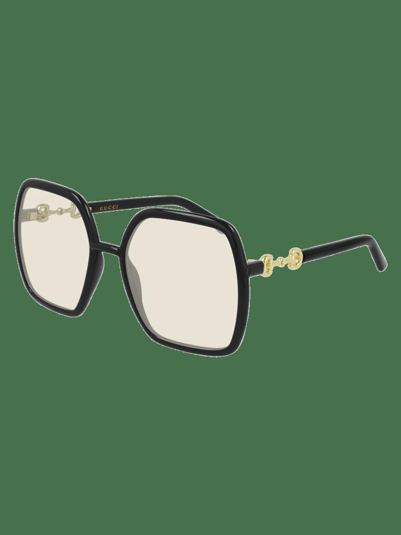 Gucci GG0890S Sunglasses - Black Black Yellow