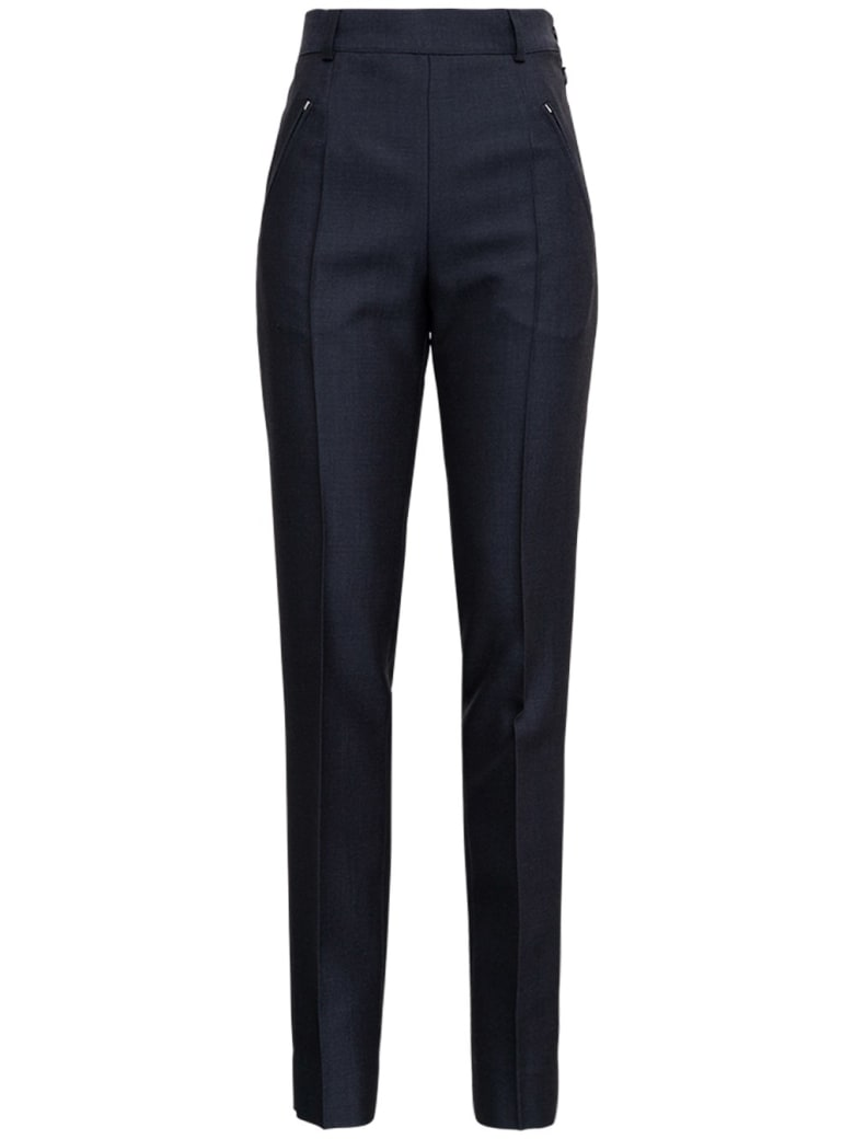 Maison Margiela Anthracite Grey Tailored Pants In Wool Blend - Grey