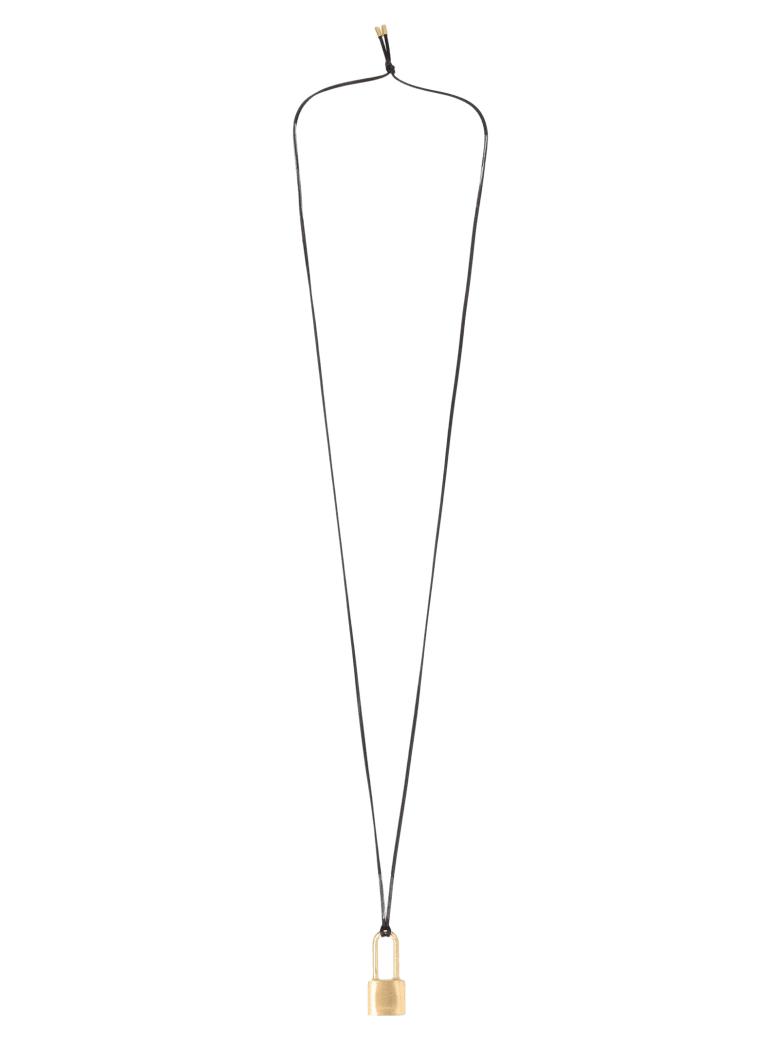AMBUSH 'small Padlock' Necklace - Gold