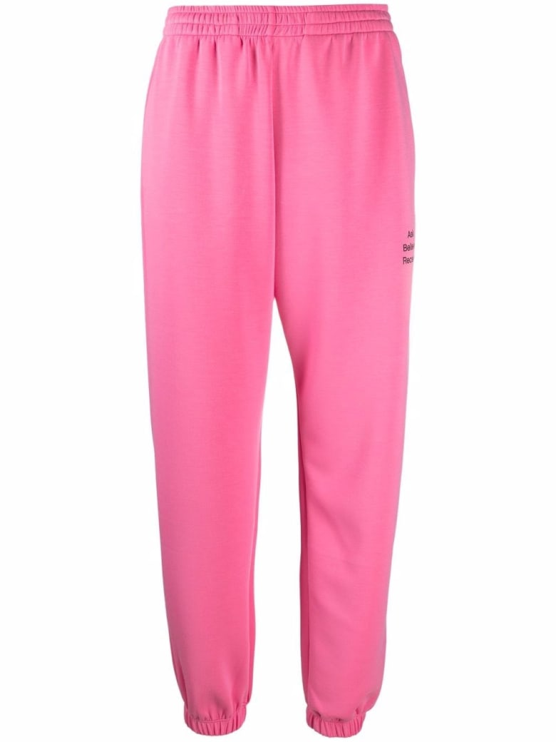 Merci Pink Cotton Jogger With Print - Pink