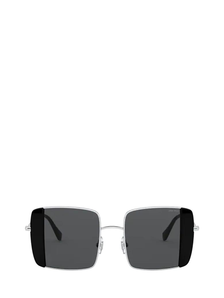 Miu Miu Miu Miu Mu 56vs Silver / Black Sunglasses - SILVER / BLACK
