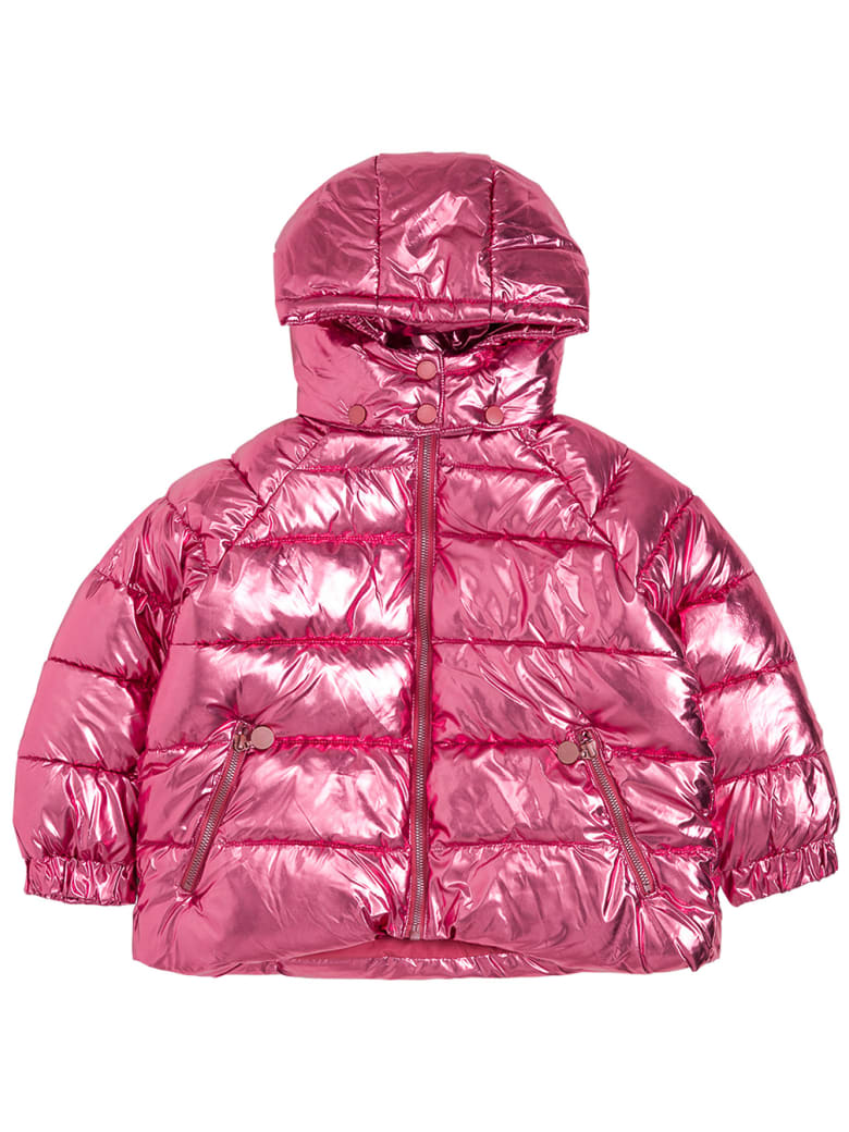 Stella McCartney Kids Pink Shiny Nylon Down Jacket - Pink