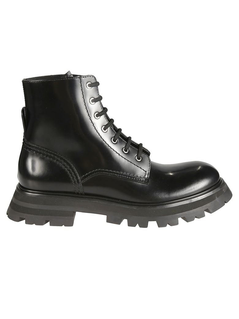 Alexander McQueen Classic Lace-up Boots - Nero