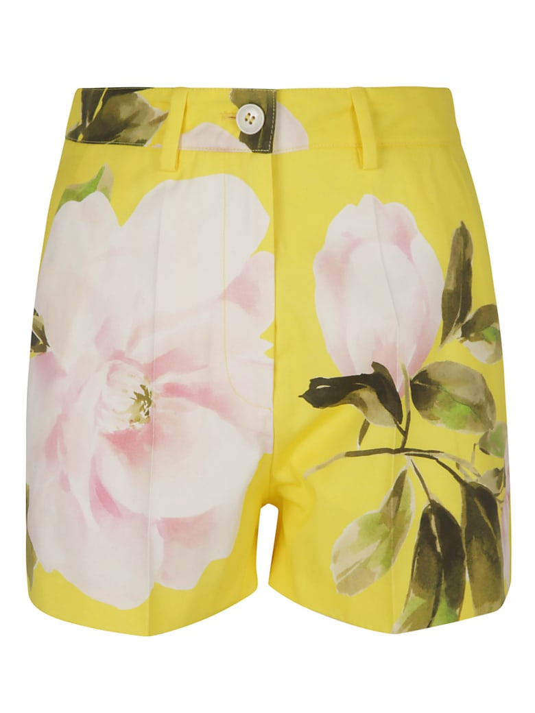 Valentino Floral Print Shorts - Yellow/Multicolor