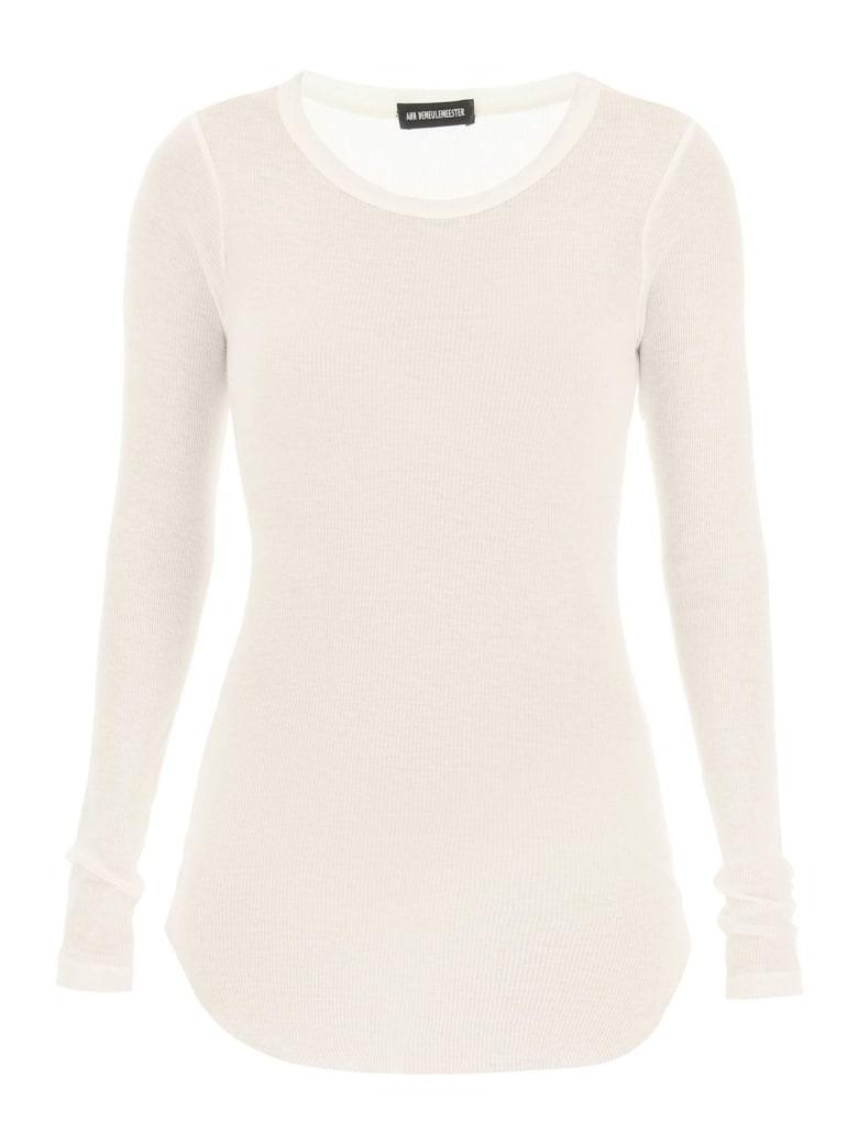 Ann Demeulemeester Karo Long-sleeved T-shirt - CREAM (White)