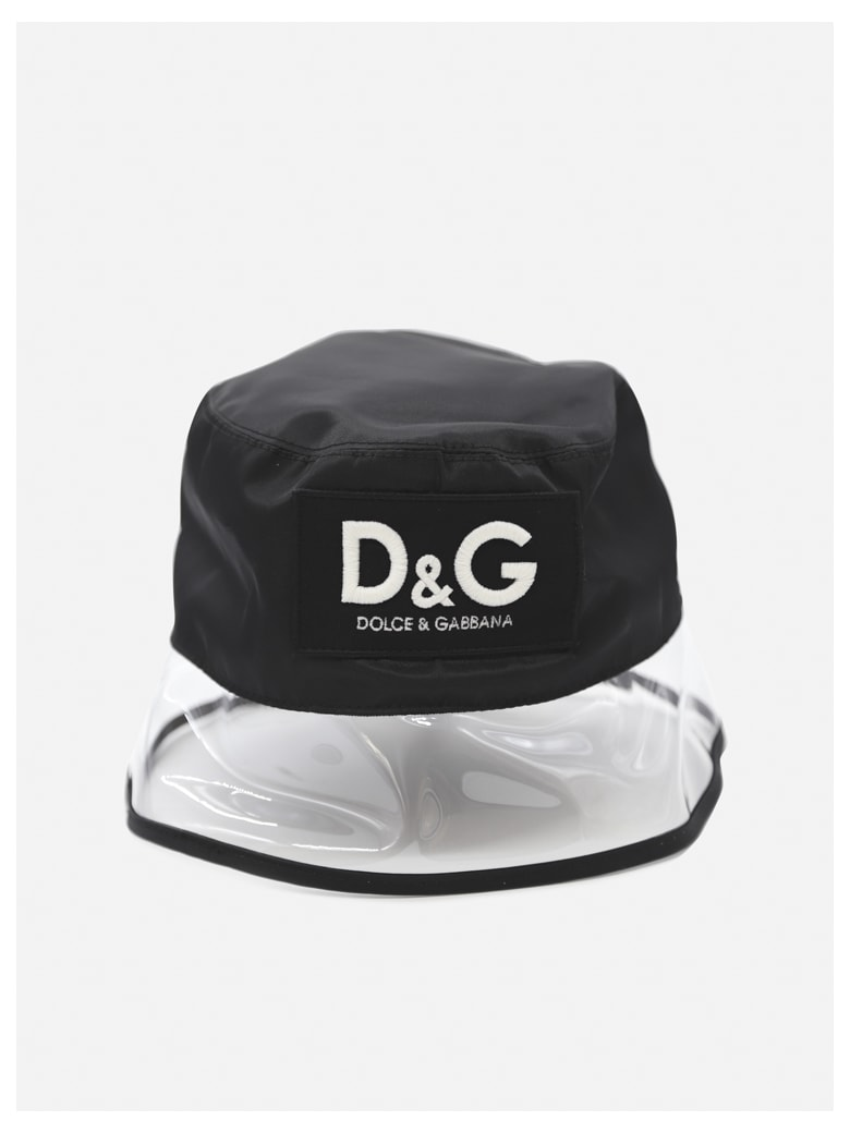 Dolce & Gabbana Hat With Pvc Inserts And Logo Patch - Black