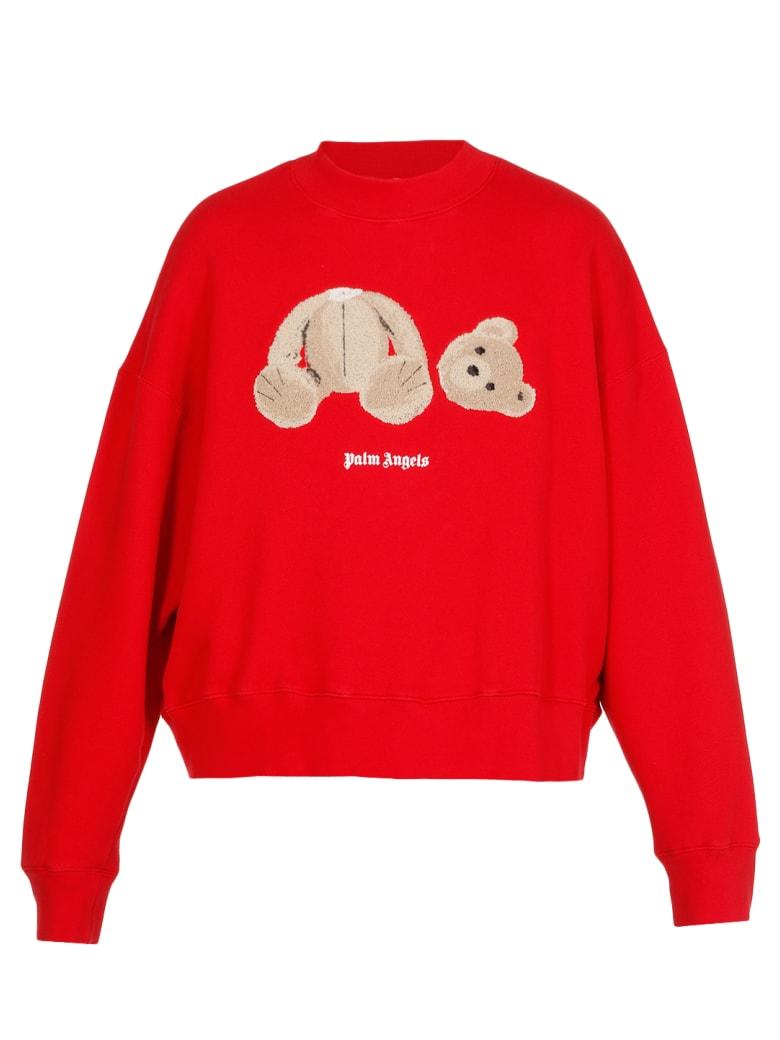 Palm Angels Teddy Bear Sweatshirt - RED BROWN