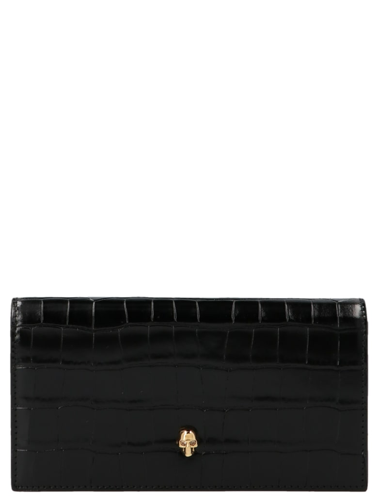 Alexander McQueen 'continental' Wallet - Black