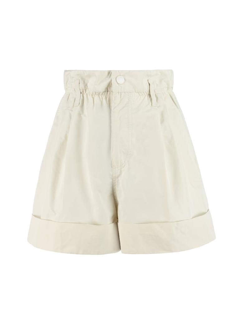 Moncler Techno Fabric Shorts - Bianco
