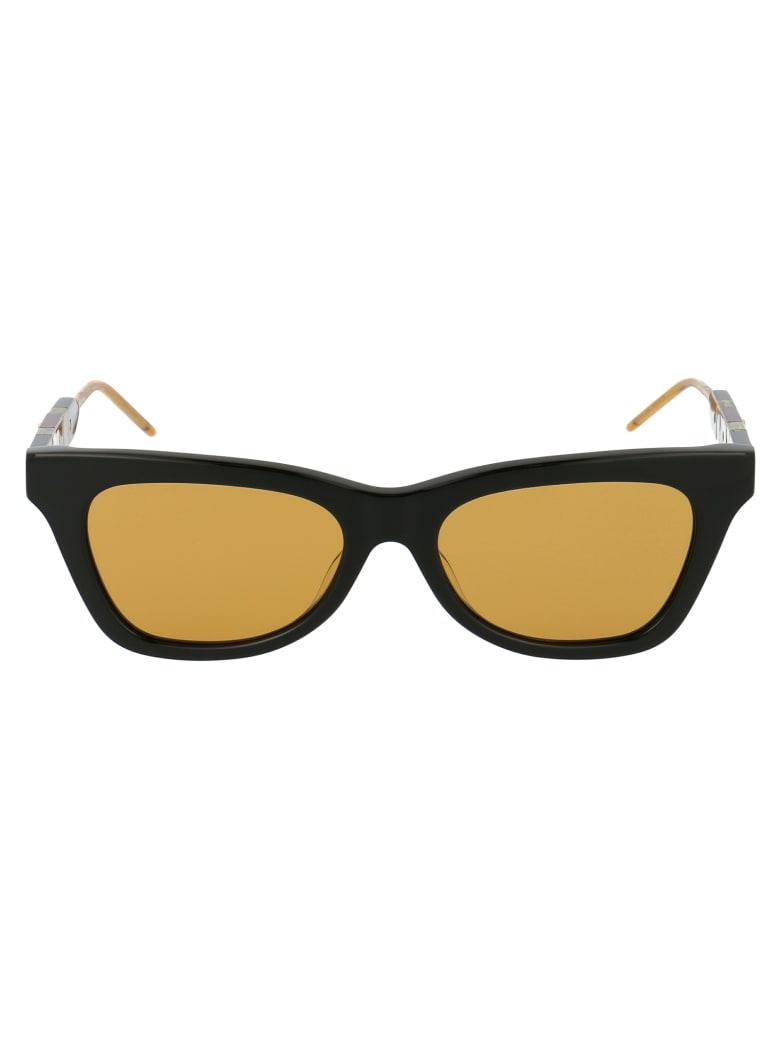 Gucci Gg0598s Sunglasses - 004 BLACK BLACK YELLOW