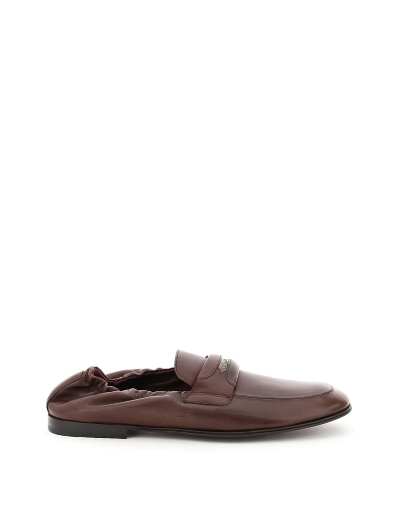 Dolce & Gabbana Ariosto Nappa Loafers - Marrone