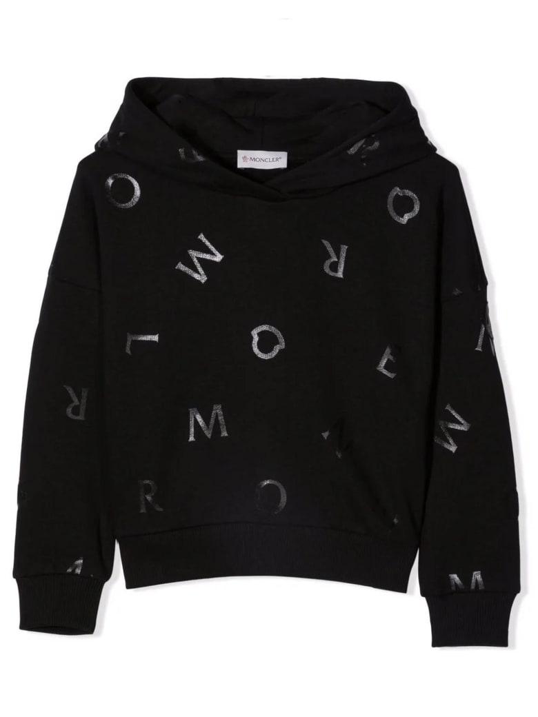 Moncler Black Cotton Hoodie - Nero