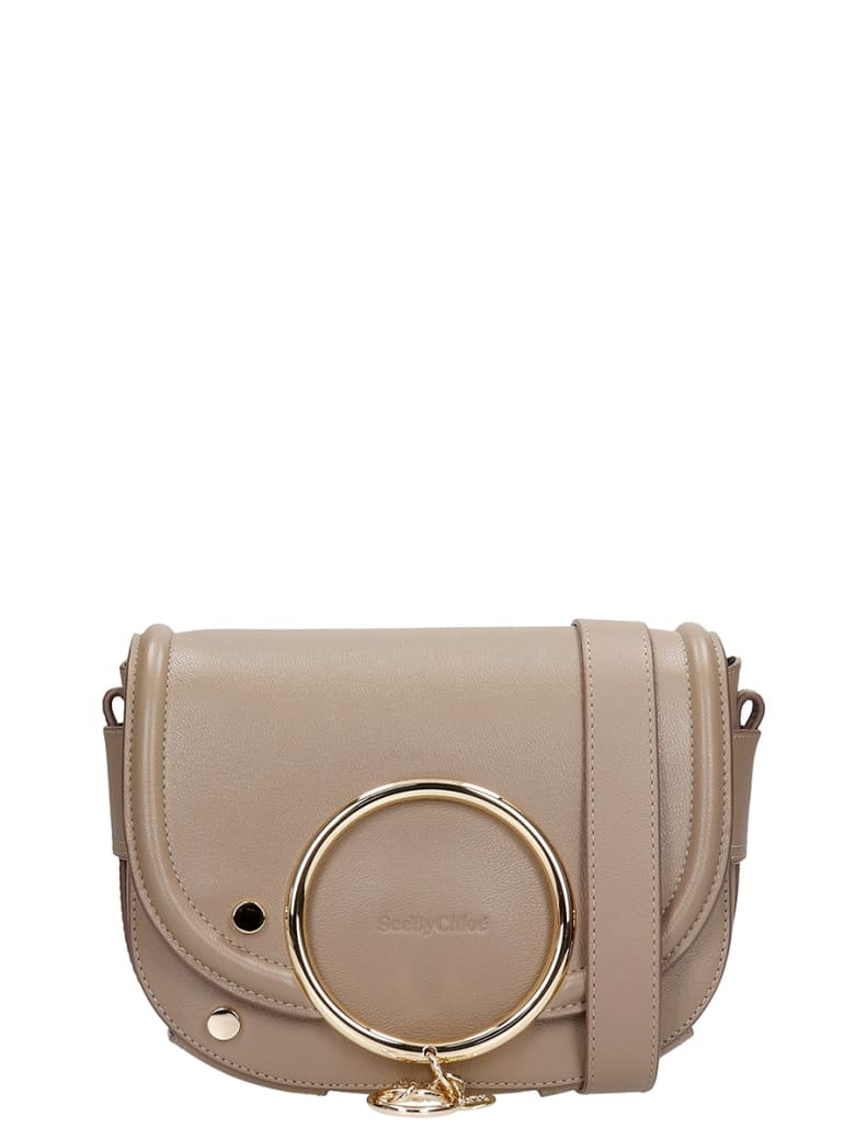 See by Chloé Shoulder Bag In Grey Leather - MOTTY GREY