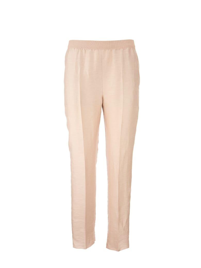 Agnona Linen Blend Trousers - Light Pink