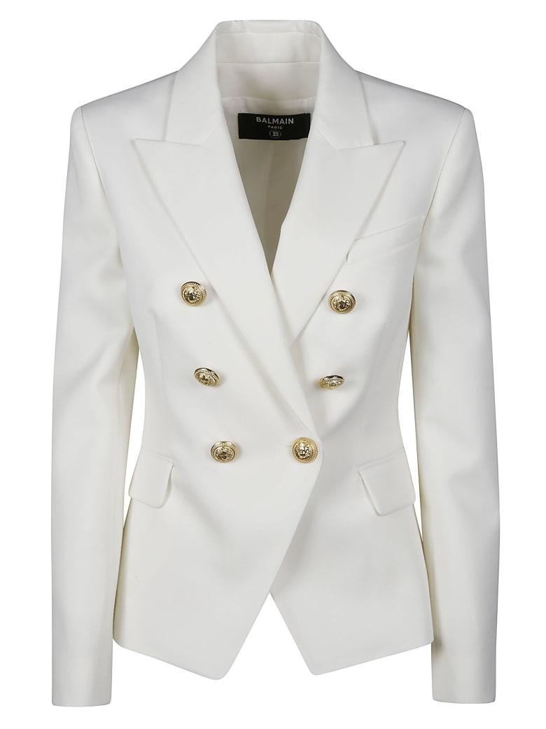 Balmain Regular Fit Plain Dinner Jacket - Bianco