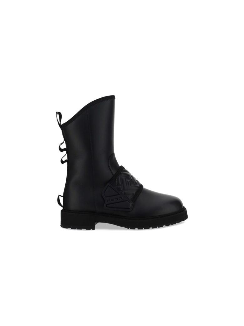 Fendi Biker Boots - Black