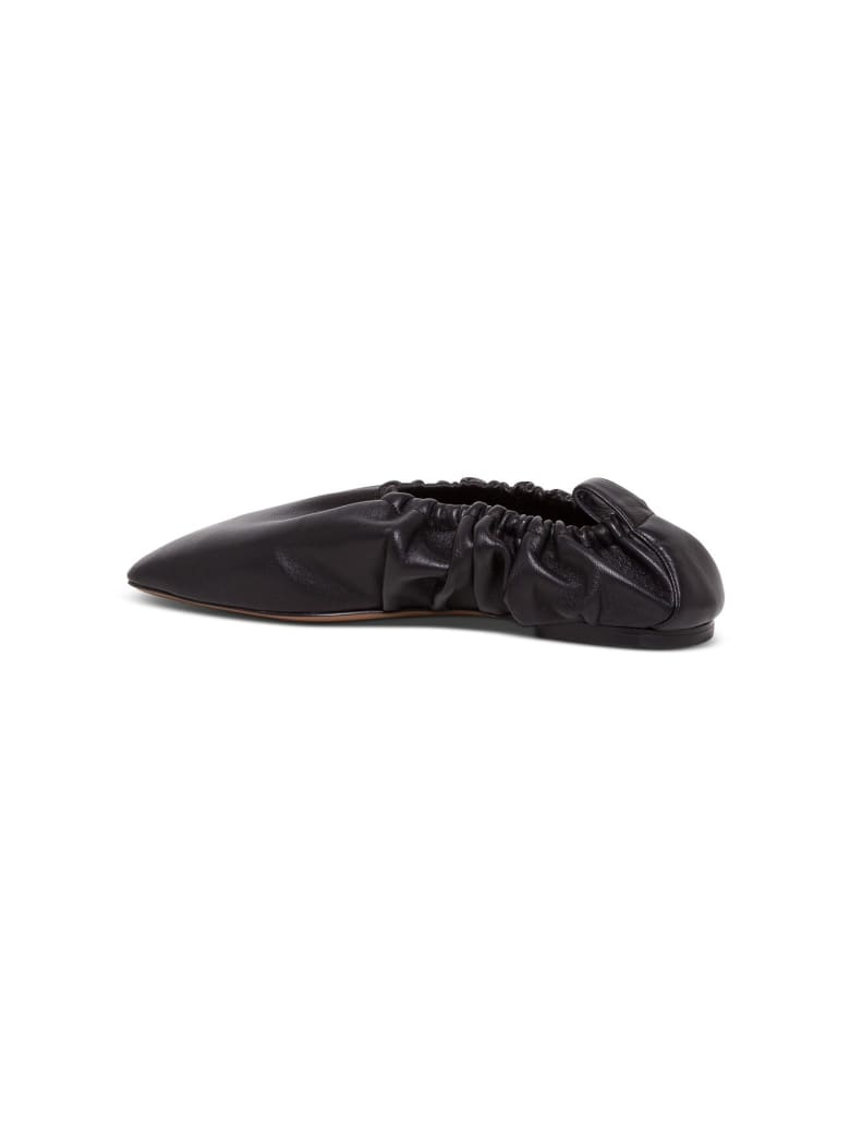 Neous Phina Leather Flat Shoes - Black