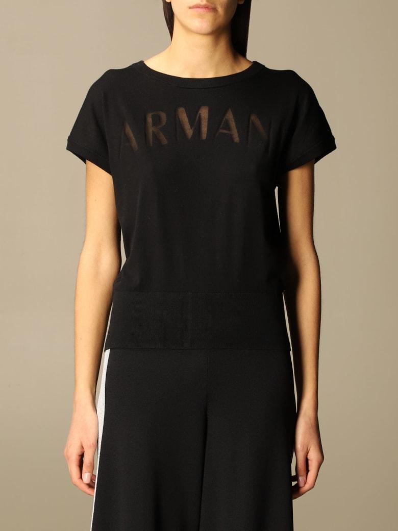 Armani Collezioni Armani Exchange Sweater Armani Exchange Sweater With Logo - Black