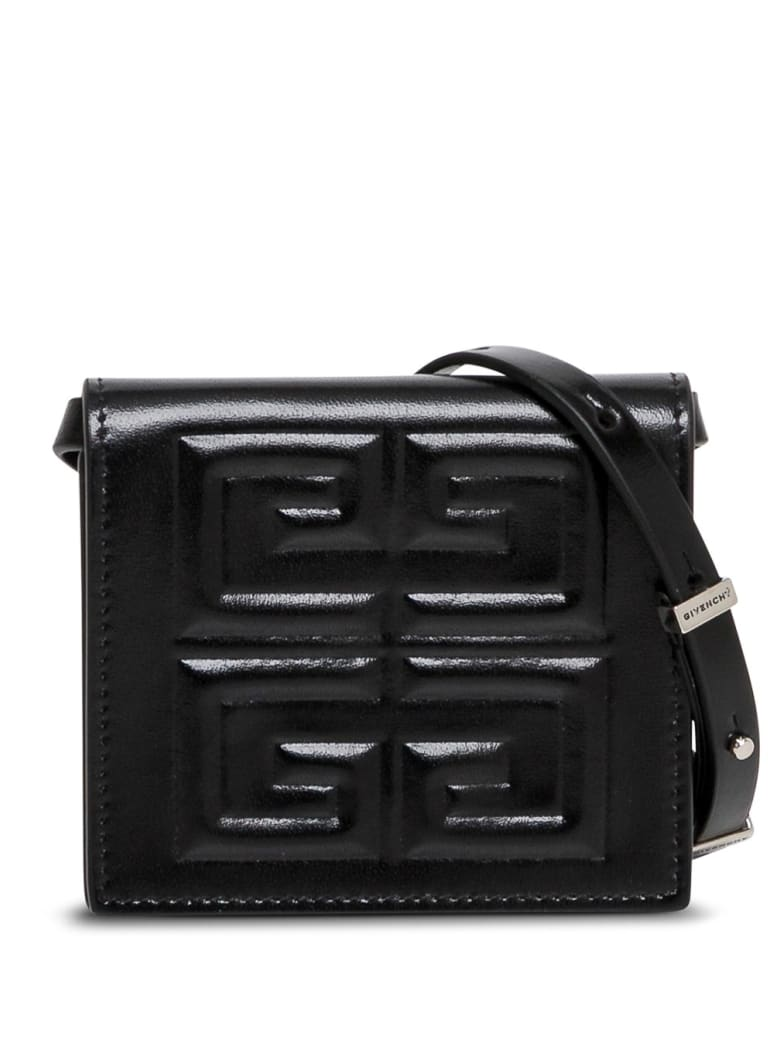 Givenchy Mini Pouch Crossbody Bag In 4g Leather - Black