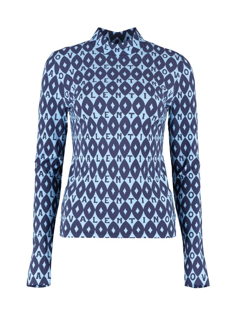 Valentino Printed Top - blue