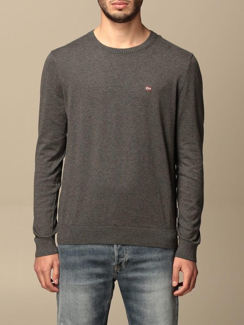 Napapijri Sweater Napapijri Crewneck Sweater With Logo - Grey