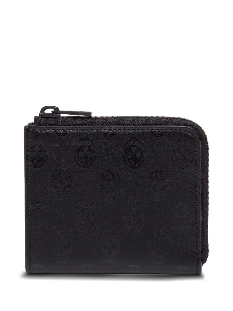 Alexander McQueen Skull Leather Wallet - Black