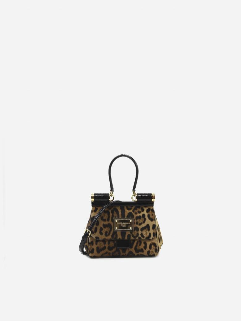 Dolce & Gabbana 90es Sicily Medium Leather Bag With All-over Leo Print - Leopard
