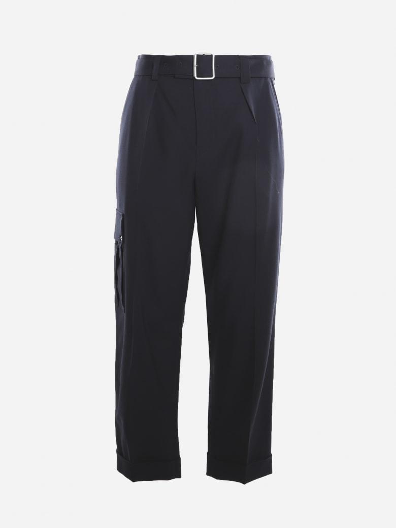 Loewe Cargo Pants Made Of Wool - Navy