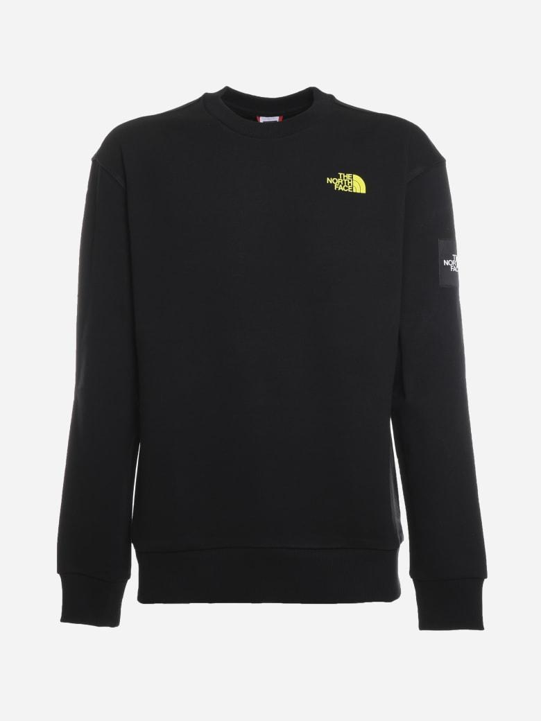 The North Face Cotton Crewneck Sweatshirt With Black Box Print - Black