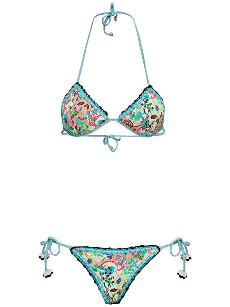 Anjuna Reversible Bikini With Floral Print - Multicolor