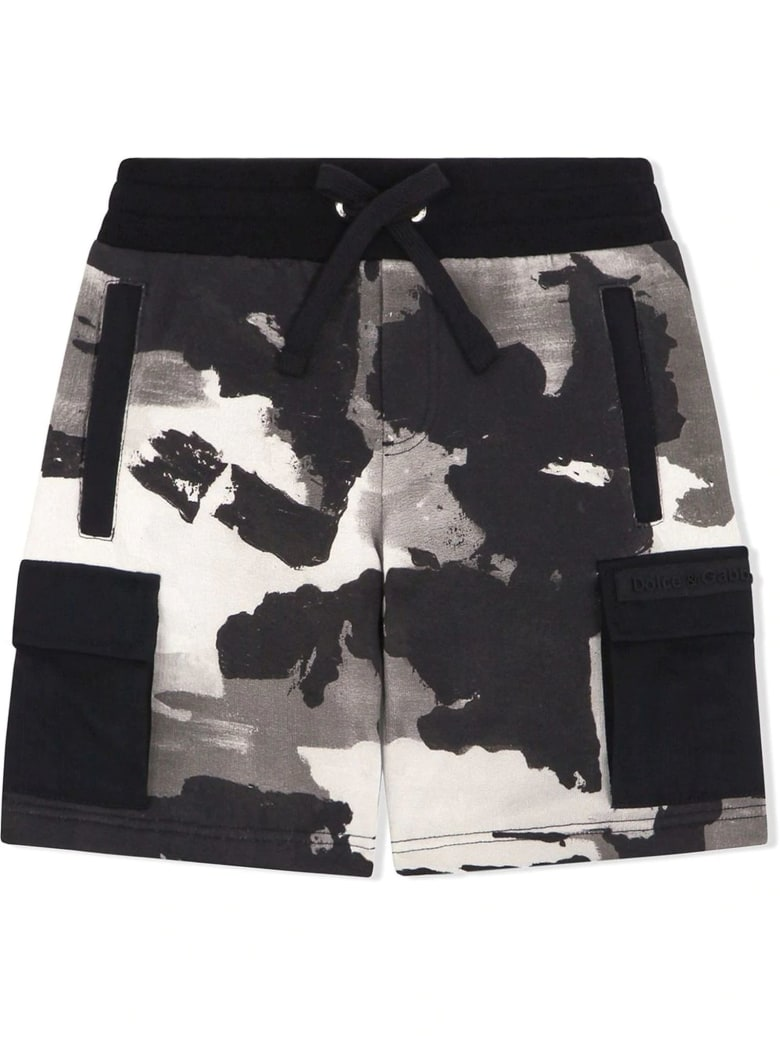 Dolce & Gabbana Jersey Jogging Shorts With Camouflage Print - Camouflage
