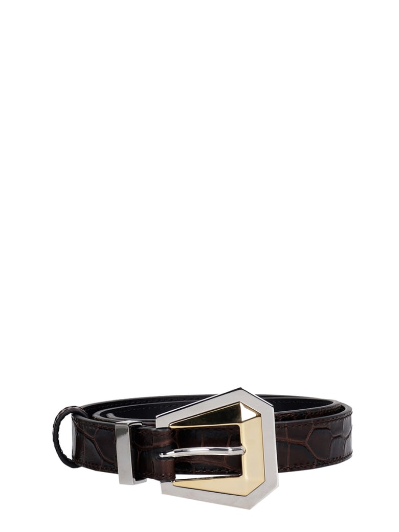 Kate Cate Belts In Black Leather - black