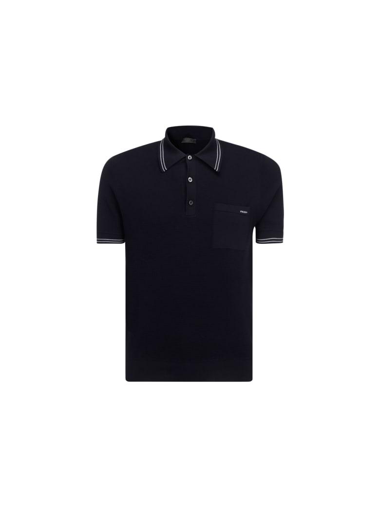 Prada Polo Shirt - Bleu